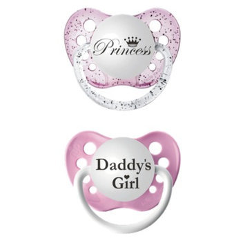 ulubulu 2pk Pacifiers Daddy's Girl/Princess