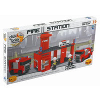 Click Bricks Fire Station, 257-Piece Set