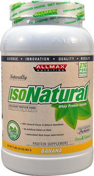 ALLMAX Nutrition IsoNatural Whey Protein Isolate Banana 2 lbs