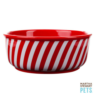 Martha Stewart PetsA Peppermint Stripes Bowl