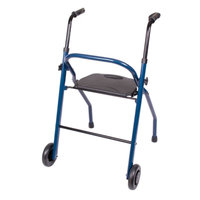 Carex Two Wheeled Walker w/Seat, 1 ea