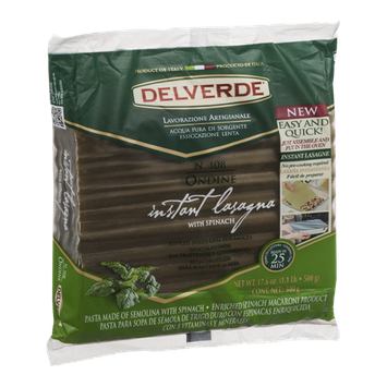Delverde Instant Lasagna With Spinach
