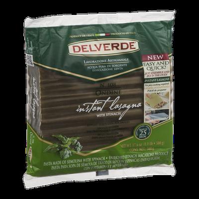 Delverde Instant Lasagna With Spinach