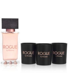 Rihanna Rogue Eau de Parfum, 4.2 oz + Candle Set Gift