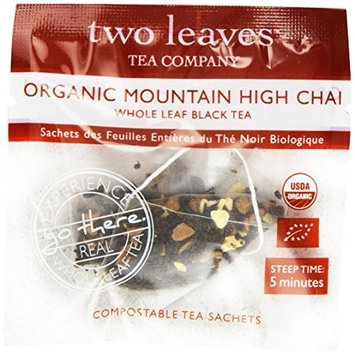 Two Leaves And A Bud Two Leaves Tea Company Organic Mountain High Chai Black Tea, 100-Count