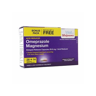 Walgreens Omeprazole Acid Reducer 20.6mg Capsules