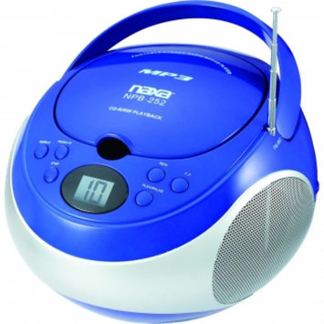 Naxa Portable MP3/CD Player with AM/FM Stereo Radio, Blue