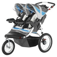 Schwinn Turismo Swivel Jogger Double - Gray/Blue