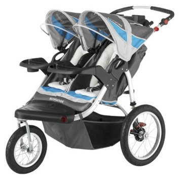 Schwinn Turismo Swivel Jogger Double - Gray/Blue