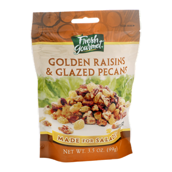 Fresh Gourmet Golden Raisins & Glazed Pecans