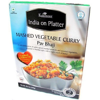 Kohinoor Heat & Eat Pav Bhaji (Mashed Veg Curry) - 10.5oz