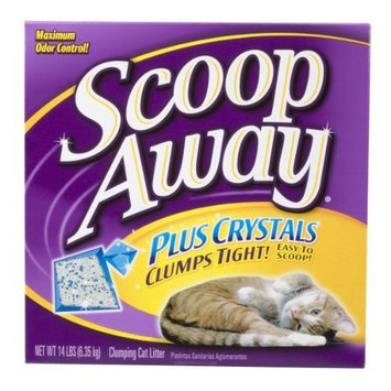 Scoop Away Cat Litter Plus Crystals, 14-Pound Boxes, 3-Pack