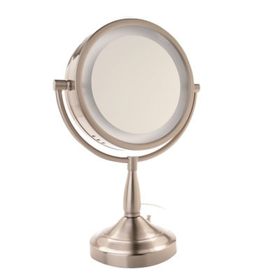 Jerdon Lighted Table Top Mirror