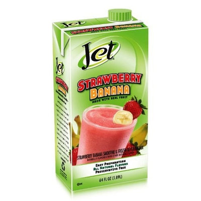 Davinci Jet Smoothie Mix, Strawberry Banana, 64-Ounce Boxes (Pack of 6)