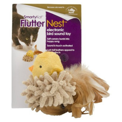 SmartyKat FlutterNest Electronic Bird Sound Pet Toy