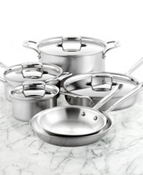 All Clad All-Clad BD5 Brushed Stainless Steel 10 Piece Cookware Set