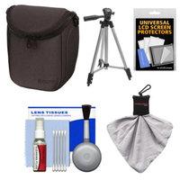 Sony LCS-BBF Soft Digital Camera Case (Black) with Tripod + Accessory Kit for Alpha NEX-3N, NEX-5N, NEX-5R, NEX-6, NEX-7
