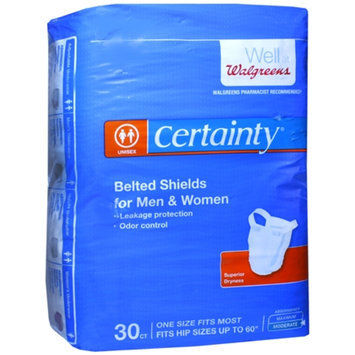 Walgreens Certainty Belted Shields With Buttons