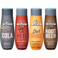 SodaStream Fountain Style Diet Variety Pack Sparkling Drink Mix, 440mL