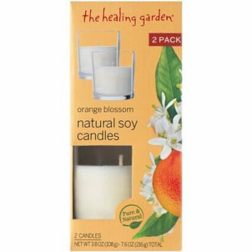 The Healing Garden Orange Blossom Natural Soy Candles, 3.8 oz, 2 count