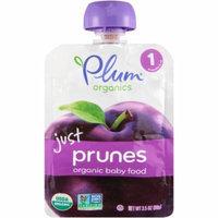 Plum Organics Just Prunes Stage 1 Organic Baby Food, 3.5 oz, (Pack of 12)