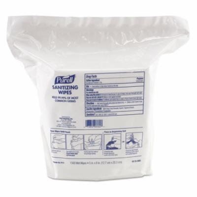 Purell Sanitizing Wipes - Lemon Scent - Lint-free, Durable, Textured - White - 2 Pack (911502)