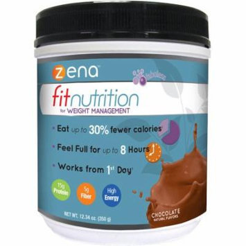 Zena Fit Nutrition for Weight Management Chocolate Powder Dietary Supplement, 12.34 oz