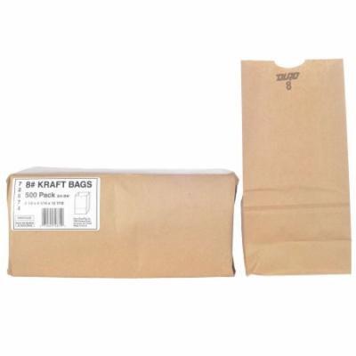 Duro Bag 8# Kraft Bags - 500 ct.