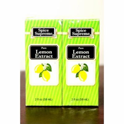 Pack of 24 Spice Supreme Pure Lemon Extract 2 fl oz. #30940