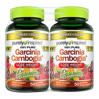 Purely Inspired Garcinia Cambogia Gummies Weight Loss Supplement, Fruit Burst, 100 Count
