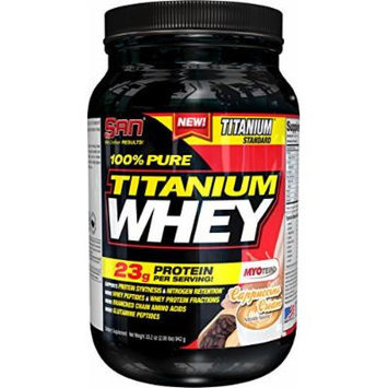 SAN Pure Titanium Whey Protein Powder, Cappuccino Cream, 2 Pound
