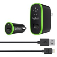 Belkin Home/Car Charger Kit with Lightning Cable - Black