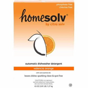 Home Solv by Citra Solv Valencia Orange Natural Automatic Dishwasher Detergent, 45 oz, (Pack of 12)