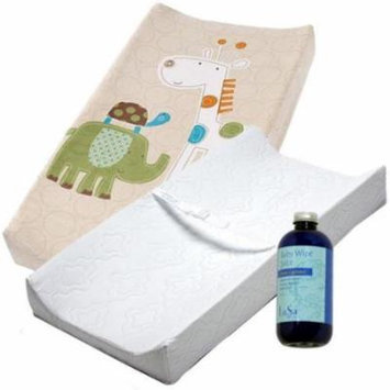 Summer Infant 2-Sided Contoured Changing Pad with Cover & Baby Wipe Juice