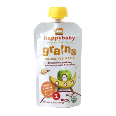 Happy Baby Organic Baby Food: Stage 2 / Homestyle Meals Brown Rice Pudding