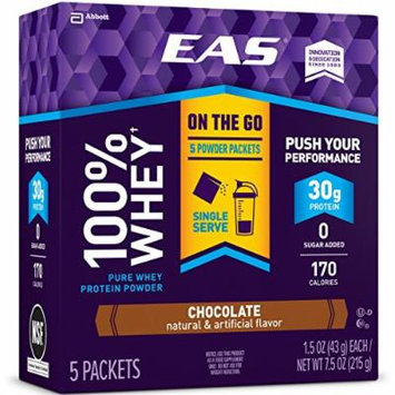 EAS 100% Whey Protein Powder Packets, Chocolate, 30 Count
