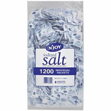N'JOY Iodized Salt - 1,200 ct. .5 gm Packets