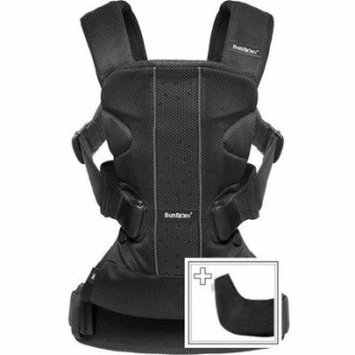 BabyBjorn Baby Carrier One and Bib for One Bundle Pack, Black, Mesh