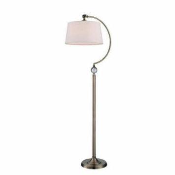Lite Source LS-82690 Floor Lamps Dickens Lamps Swing Arm Lamps ;Antique Brass