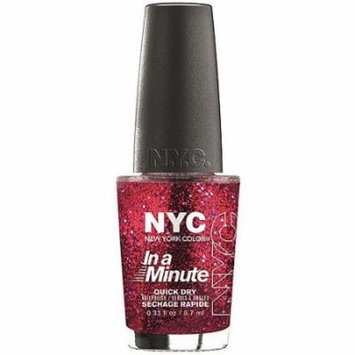 NYC New York Color In a New York Minute Nail Polish, Ruby Slippers, 0.33 fl oz