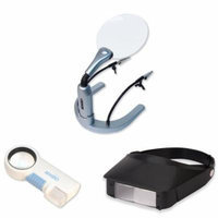 Carson MagniLamp Deluxe Soldering Magnifier w/ Lighted Magnifier and Flashlight & Dual Power Flip-Up Magnifier