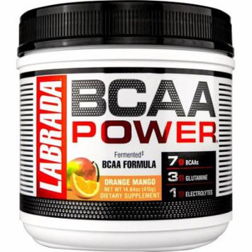Labrada Nutrition BCAA Power Fermented Formula, Orange Mango, 415 Gram