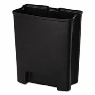 Rubbermaid Commercial End Step Plastic Step-On Rigid Liner for Stainless, 8 gallon, Black