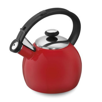 Cuisinart Omni 2 qt. Enamel on Steel Whistling Teakettle - Red