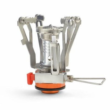 Portable Outdoor Backpacking Camping Stove, Stainless Steel Wood Burning Stove with Piezo Ignition for Picnic BBQ