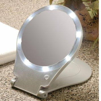 10X Magnification Folding Mirror With Light For Travel Plus Tweezers