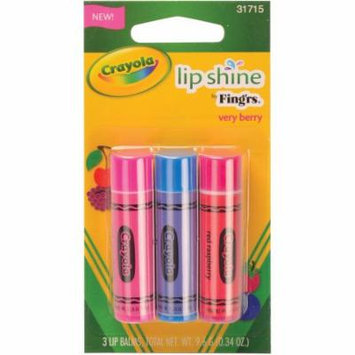 Crayola Lip Shine by Fingers Very Berry Lip Balms, 3 count, .34 oz