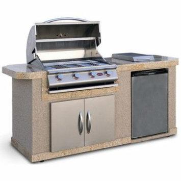 CalFlame 84'' Outdoor Kitchen Islands 4-Burner Liquid Propane Gas Grill