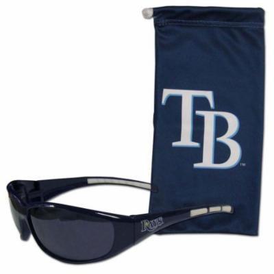 Tampa Bay Rays Sunglass and Bag Set (F)