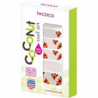 Coconut Nail Art by Incoco Nail Polish Strips, Perfect Match, 12 count